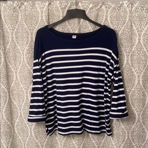 Old Navy Striped Boat Neck Shirt